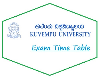 Shimoga University Time Table April 2021