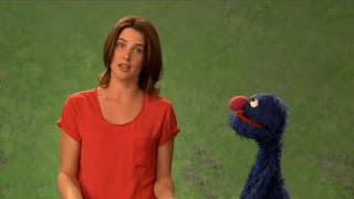 celebrity, Cobie Smulders, grover, the Word on the Street courteous, Sesame Street Episode 4412 Gotcha season 44