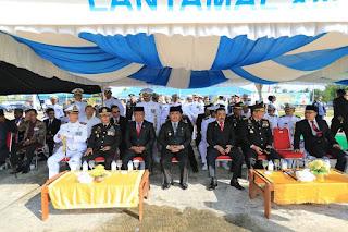 Upacara Peringatan HUT TNI Ke 74 di Lapangan Upacara Lanud Anang Busra Tarakan