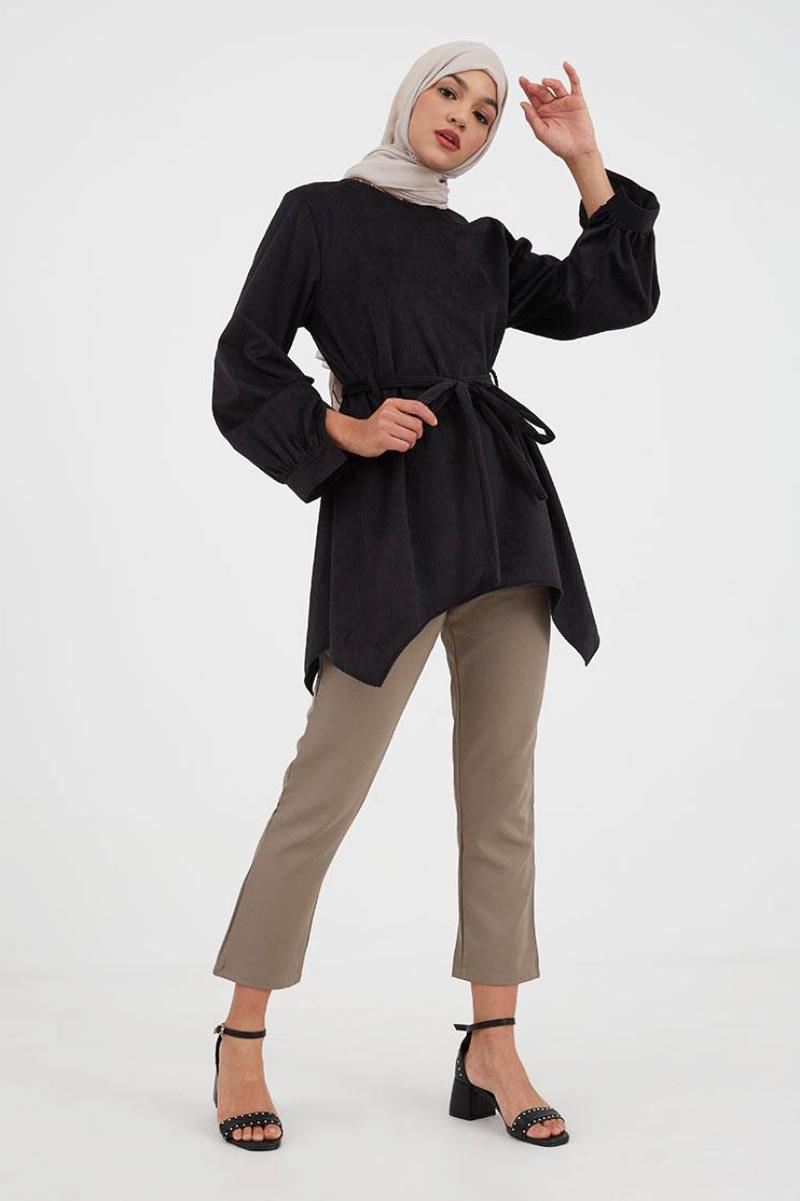 Tunik dengan Belt trend baju lebaran