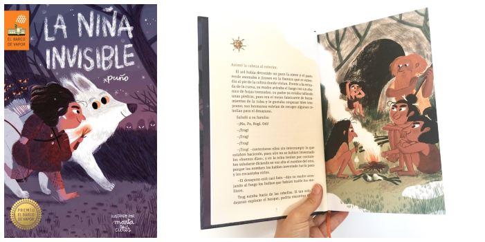 cuento infantil prehistoria La niña invisible Puño marta altés