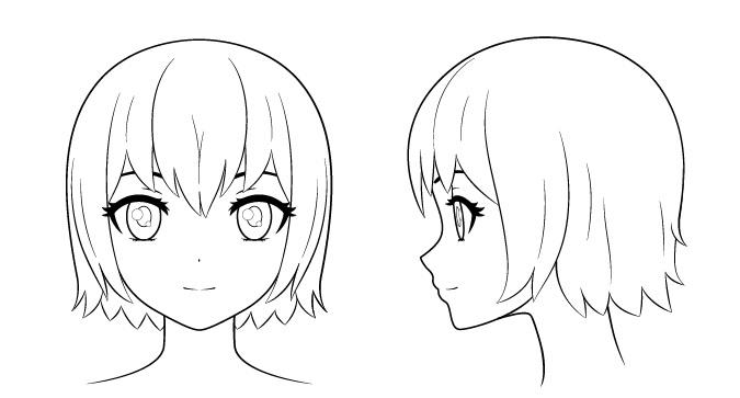 menggambar detail wajah anime