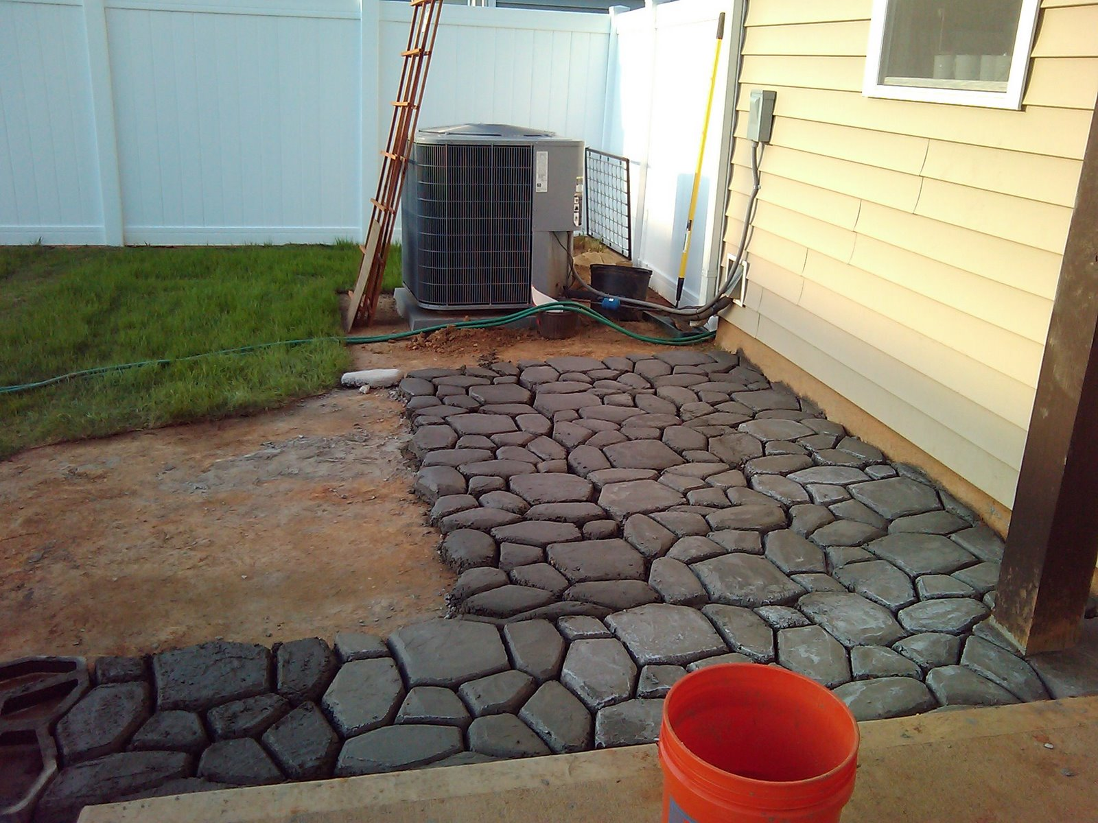 extending the concrete patio   LCruzProperties