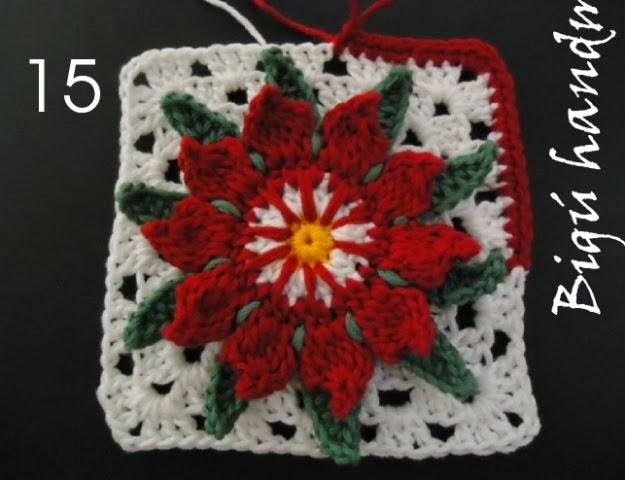 Crochet Cactus Flower Crochet Motif On The Lesson