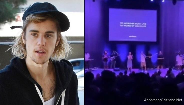 Video de Justin Bieber cantando en iglesia