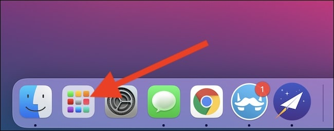 Lunchpad di Mac OS Big Sur