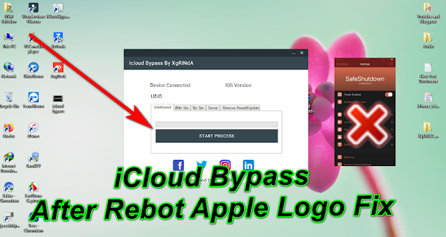 iOS13.6.1-12.4.3 iCloud Bypass Without Hang on Logo After Rebot Fix Tool-By By Safeshutdown On Windows