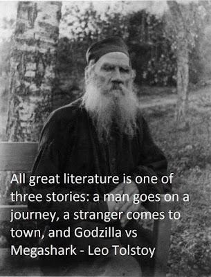 Meme de humor sobre Tolstoi