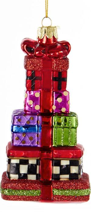 Kurt Adler Noble Gems Stacked Presents Ornament