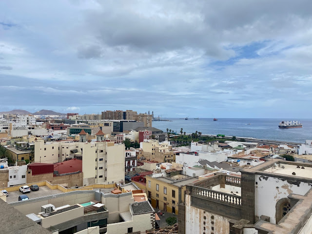 View towards the sea from the Cathedral in Las Palmas, Gran Canaria, Spain