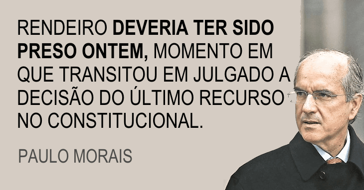 «Rendeiro fugiu para Londres» - Paulo Morais