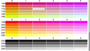 xtermの既定の256色パレットをHTMLに出力したもの