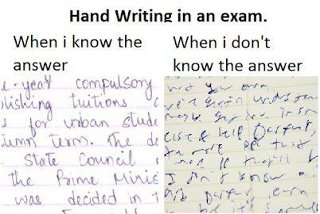 Hand Writing In An Exam !