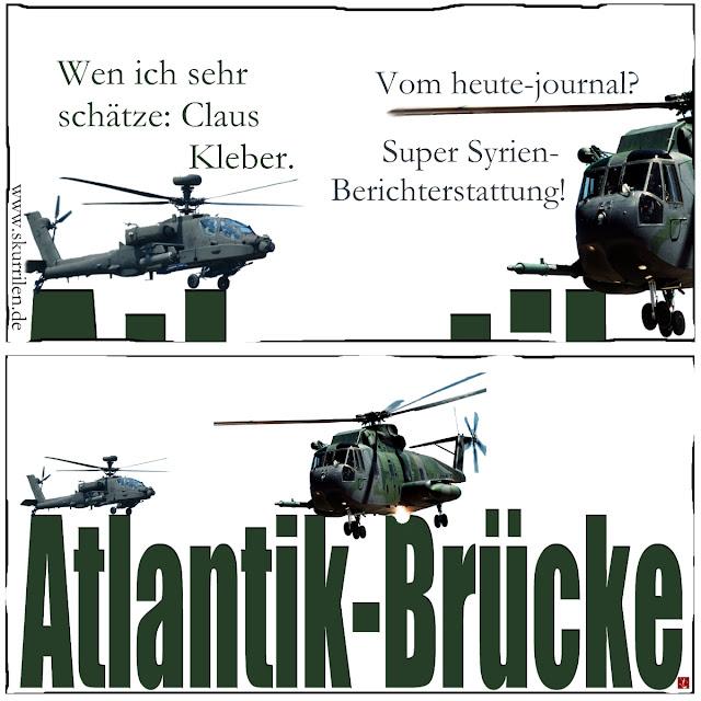 Fernsehen TV Propaganda satire collage Medien Politik Claus Kleber ZDF heute-journal Syrien-Krieg