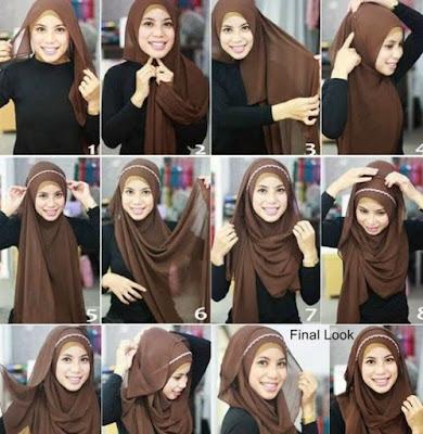 tutorial jilbab segitiga
