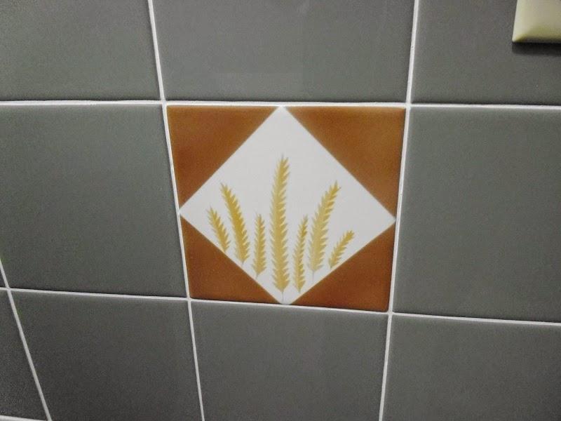 Wheat bathroom tile