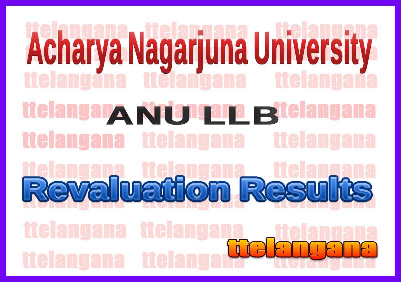 Acharya Nagarjuna University LLB Examinations Revaluation Results