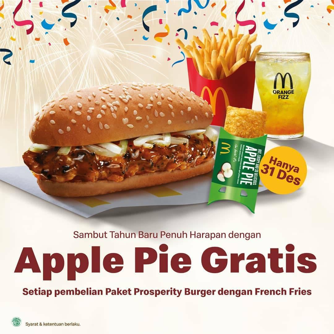McDonalds Promo GRATIS APPLE PIE setiap pembelian Paket Prosperity McD