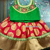 Red and Green Brocade Lehenga