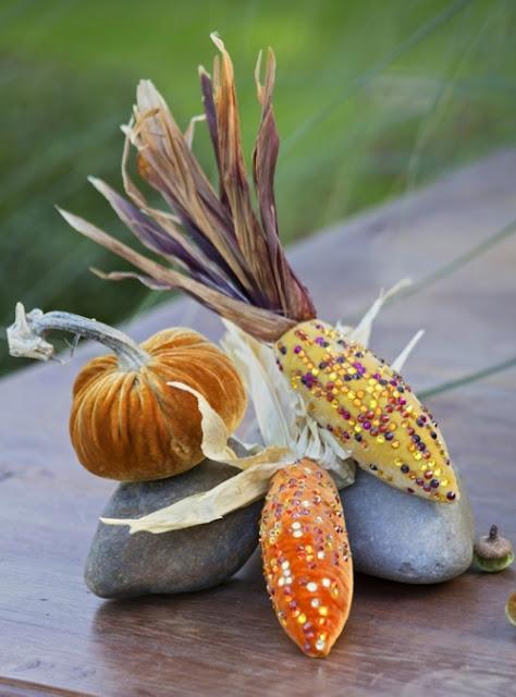 Velvet corn to go with your velvet pumpkins!