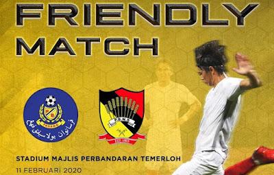 Live Streaming Pahang vs Negeri Sembilan Friendly Match 11 Februari 2020