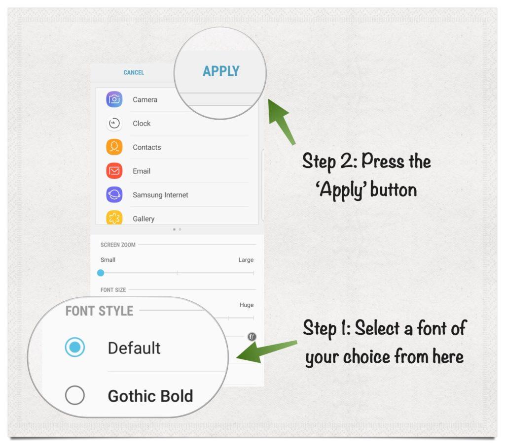 Cara Mengganti Dan Download Font Pada Galaxy S8 Bali Developer