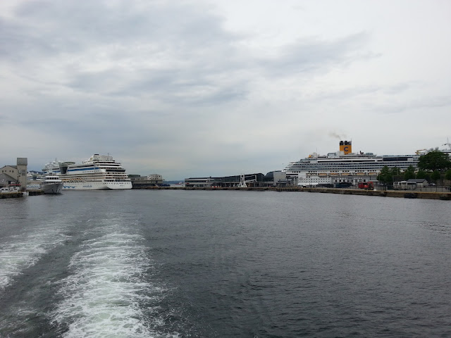 Cruise ships in Bergen, Norway