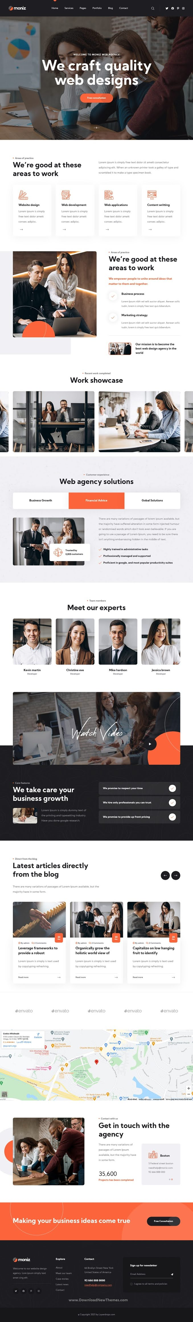 Web Design Agency Bootstrap Template