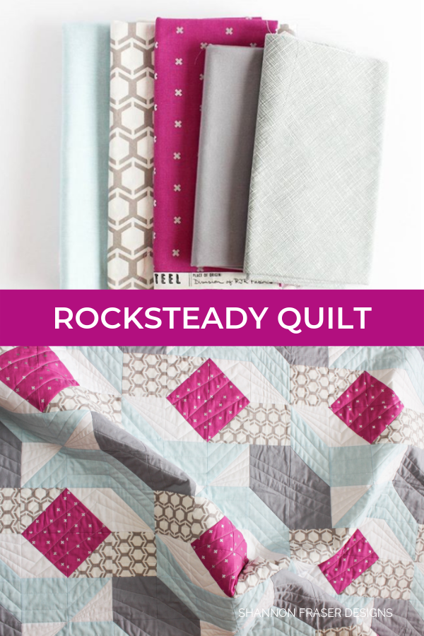 Fabric pull | Rocksteady | Modern quilt pattern by Suzy Quilts | Shannon Fraser Designs #quiltingcotton #quilts