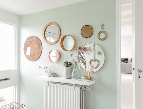 mural de espelhos, mural na parede, gallery wall, parede, decor, home decor, a casa eh sua, acasaehsua, interior design, interior