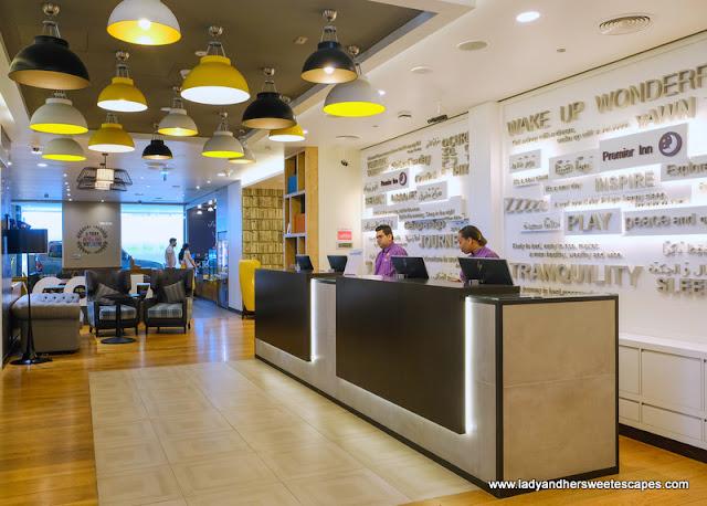 Premier Inn Al Jaddaf reception
