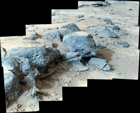 "Sol 305 Curiosity Right Mastcam (M-100) ""Point Lake"" Outcrop"
