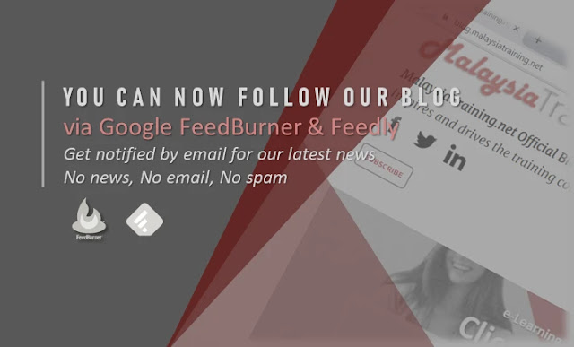 Follow our blog via Google FeedBurner & Feedly