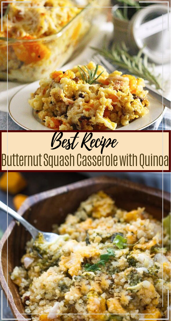 Butternut Squash Casserole with Quinoa #vegan #vegetarian #soup #breakfast #lunch