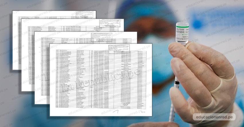 LISTA DE VACUNADOS COVID-19: Esta es la relación de 487 personas que recibieron vacuna contra el Coronavirus - Sinopharm [.PDF]