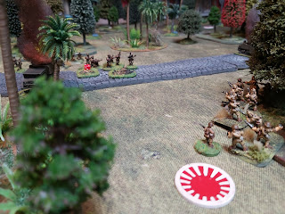 Japanese rifle men fire on the Indians