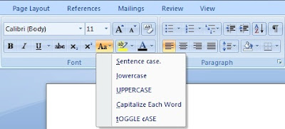 Change Case option and its use in Ms Word in Hindi