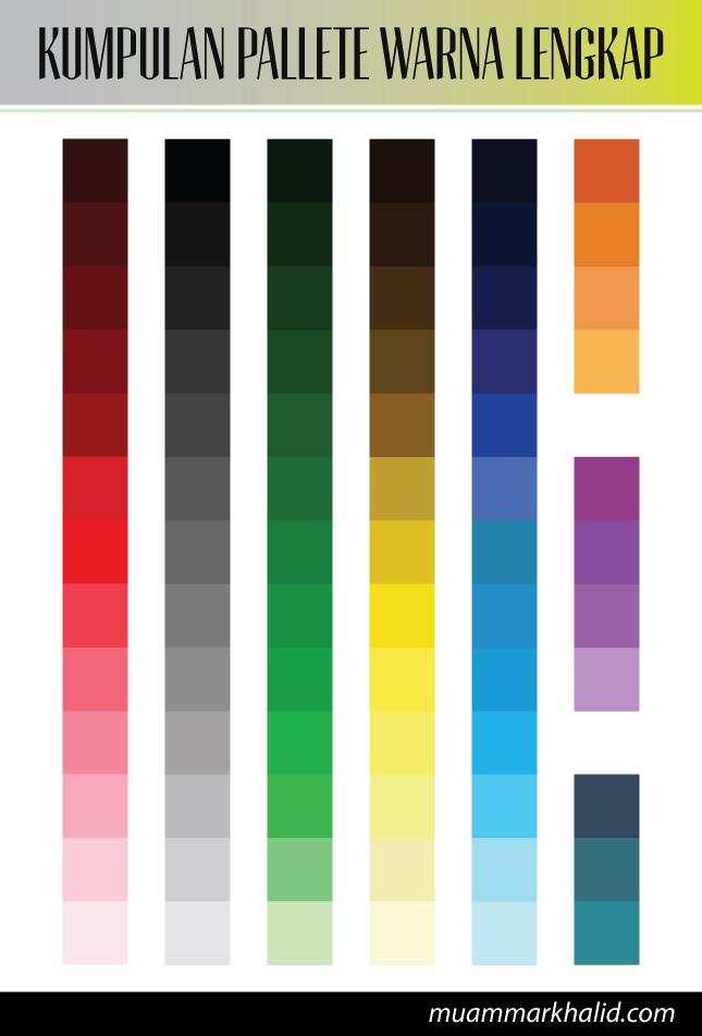 Kumpulan pallete warna lengkap