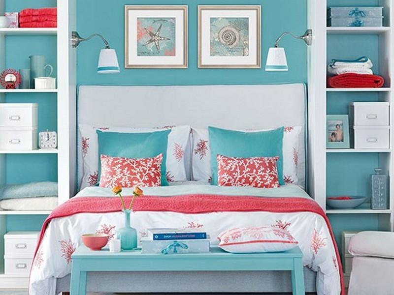 Modern day decor  Aqua Bedroom decor
