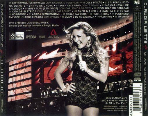 dvd da claudia leitte ao vivo em copacabana