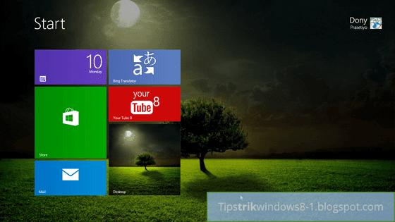 Cara Menampilkan Background Desktop di Start Screen