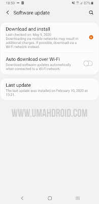 Software Update Android 10 Samsung