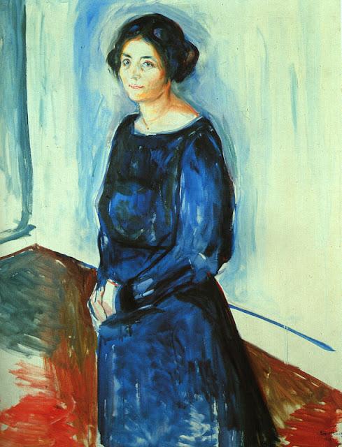 Эдвард Мунк - Женщина в синем (Фрау Барт). 1921