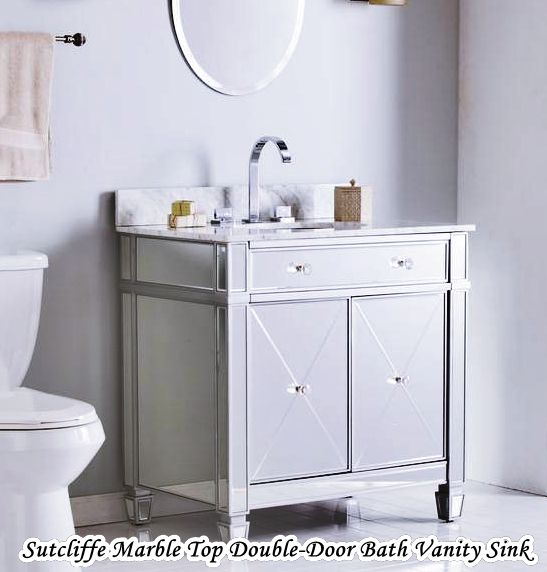 Sutcliffe Marble Top Double-Door Clearance Bath Vanity Sink