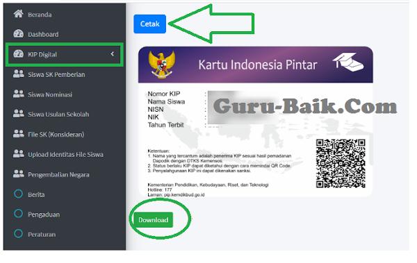 gambar download dan cetak KIP digital