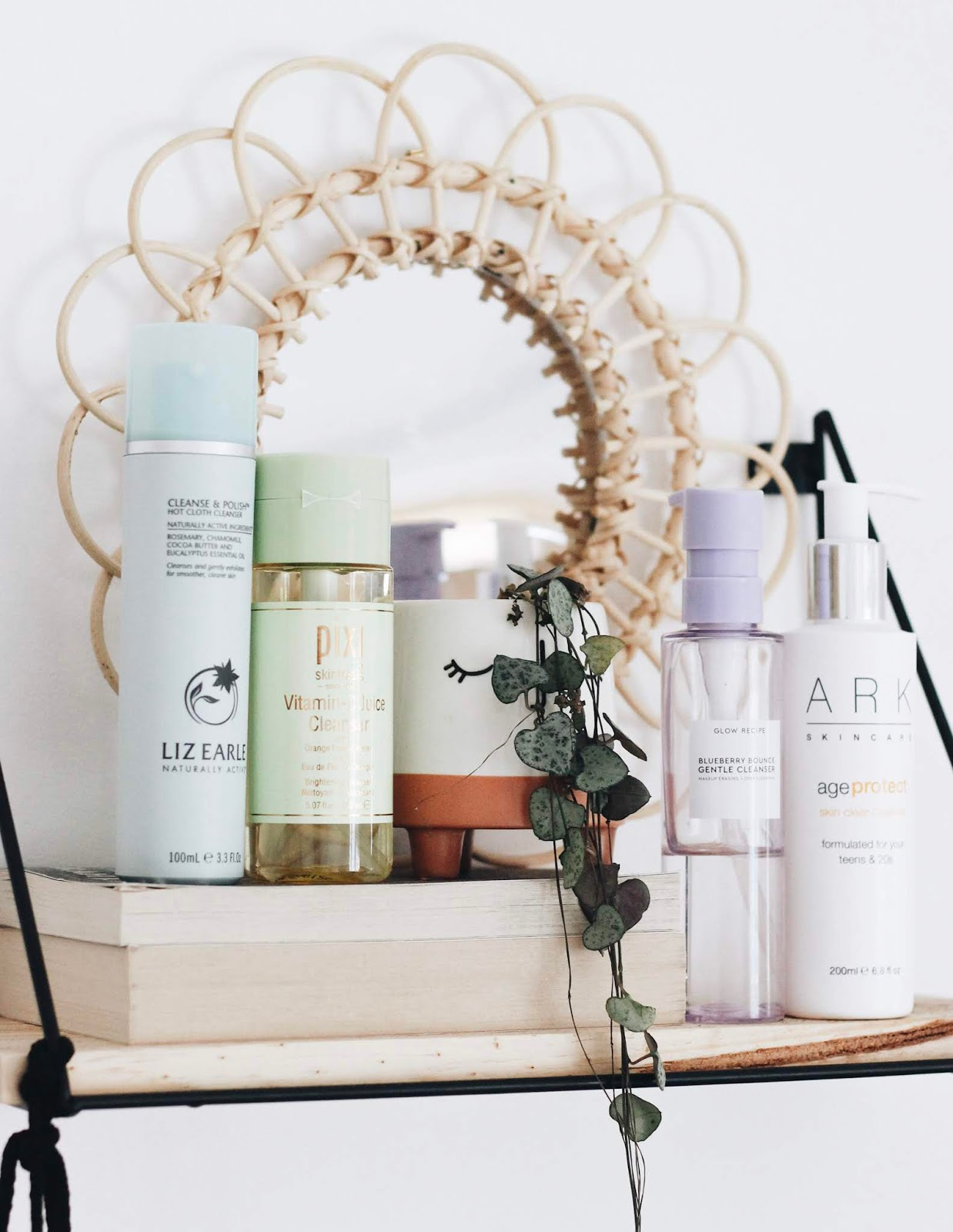 Liz Earle Cleanse and Polish, Pixi Vitamin C Cleanser, Ark Skincare, Glow Recipe