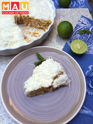carlota pay pie de limon y coco receta mau cocina de todo