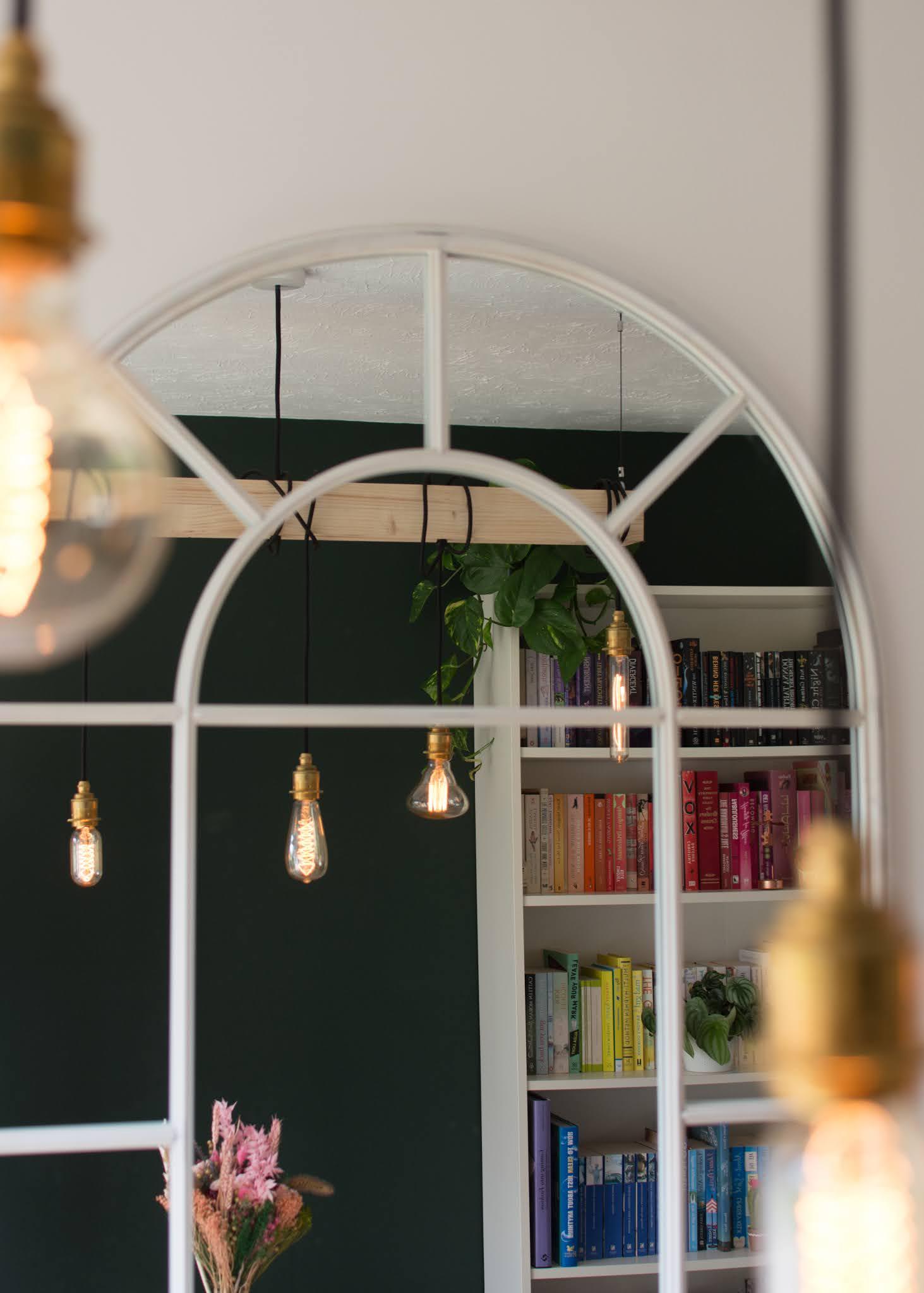 Hanging Wooden beam light