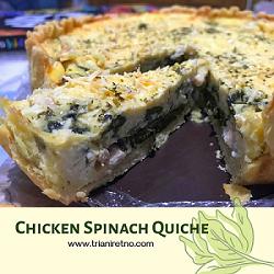 chicken spinach quiche