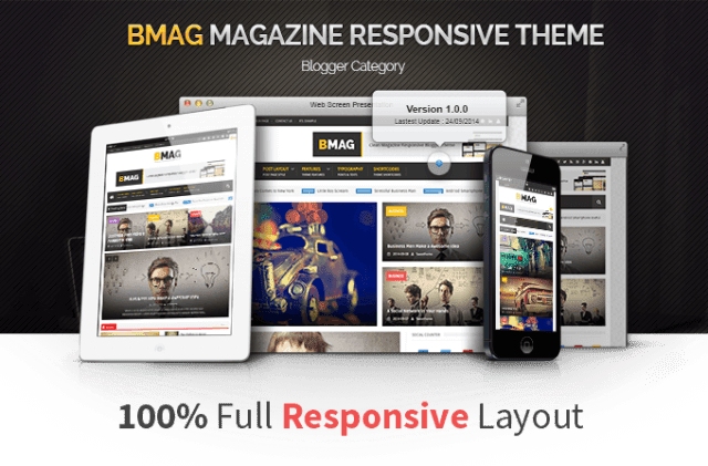 BMAG – Magazine Responsive Blogger Template Full Verison Free Downoad